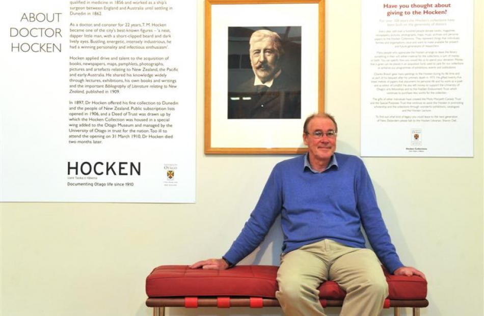 Dr Donald Kerr in the Hocken Library building in Anzac Ave, home to Dr Thomas Hocken's collection...