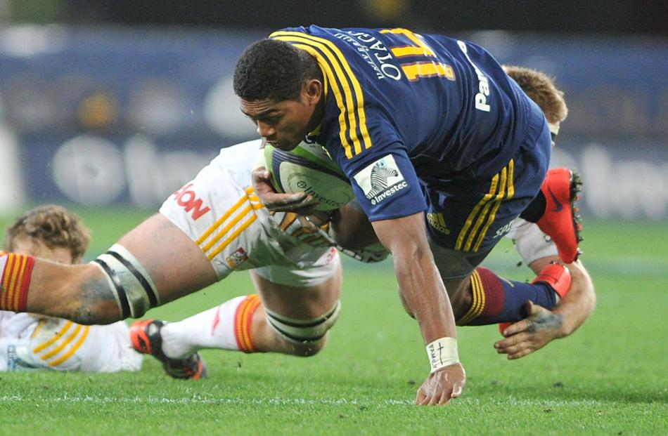Waisake Naholo. Super Rugby Qualifying Final match between the Highlanders and the Chiefs at...