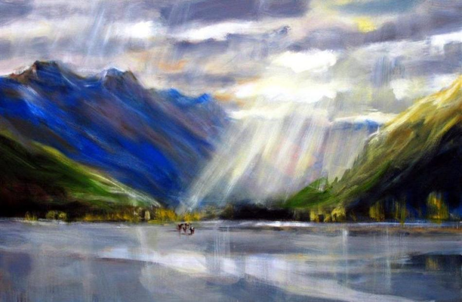 From a series of paintings on the Matukituki Valley.