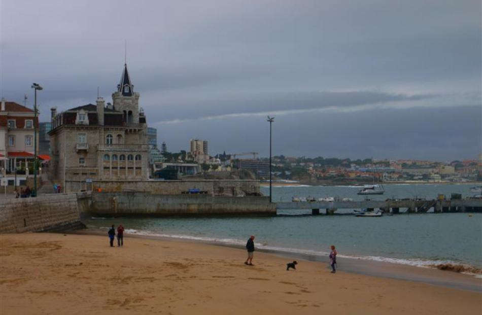 The sands of the Cascais beach near the centre of town are a perfect place to explore before an...