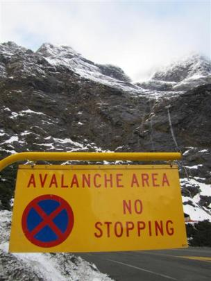 Entering the avalanche zone.