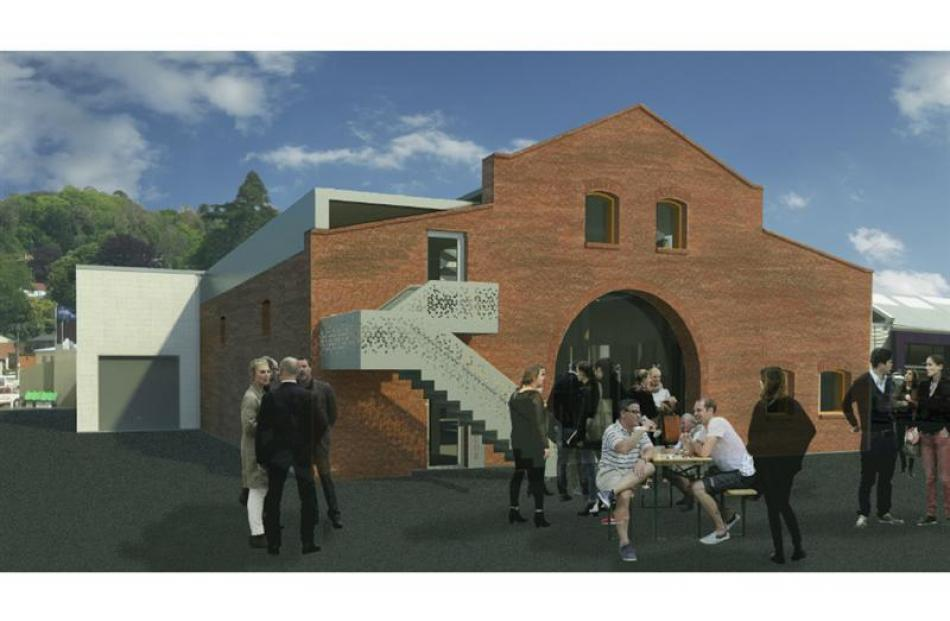 What the dilapidated stable building will look like  once finished. Image supplied.