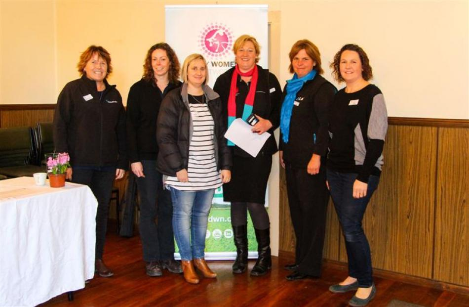 Attending the North Otago branch of the Dairy Women's Network's calf rearing seminar at Glenavy...