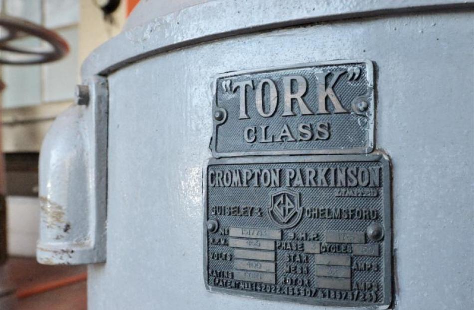 The Tork-class Crompton Parkinson pump.