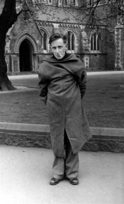 James K. Baxter at the University of Canterbury in about 1948 when he became an Anglican. It...