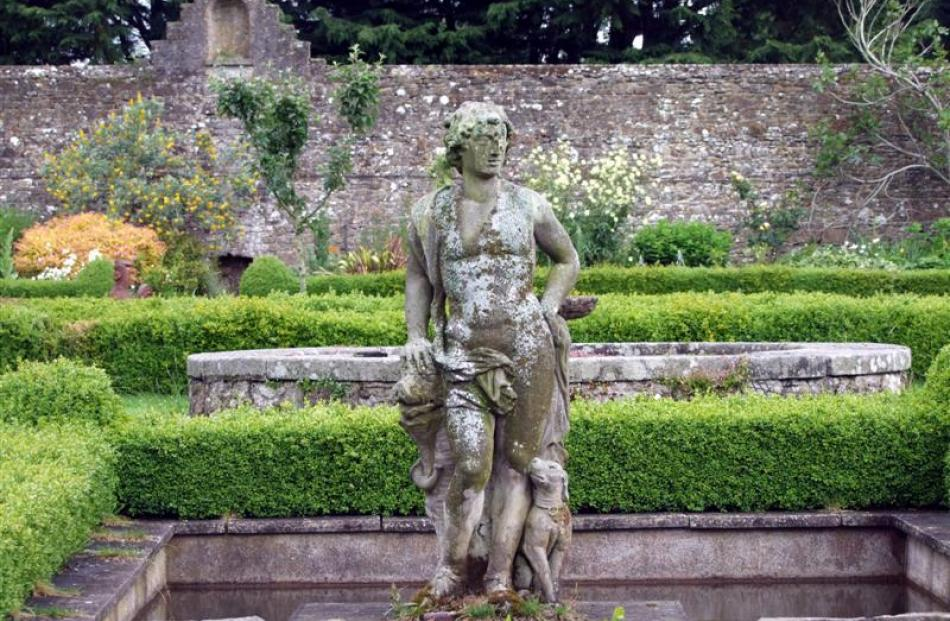 This statue of Nimrod was moved from the lake to the walled garden.