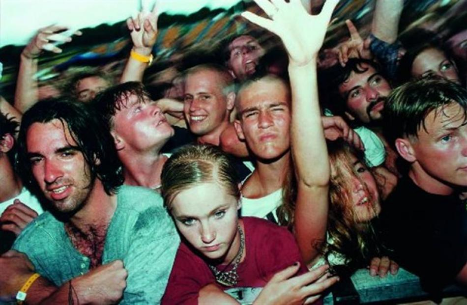 Simon Young captures Smashing Pumpkin fans at the Big Day Out in Auckland in 1994. PHOTO: ''OPEN...