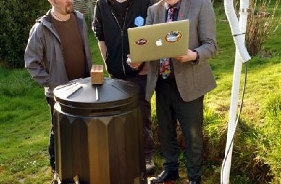 The backyard Nasa-beating aurora-predicting compost contraption and its creators (from left)...