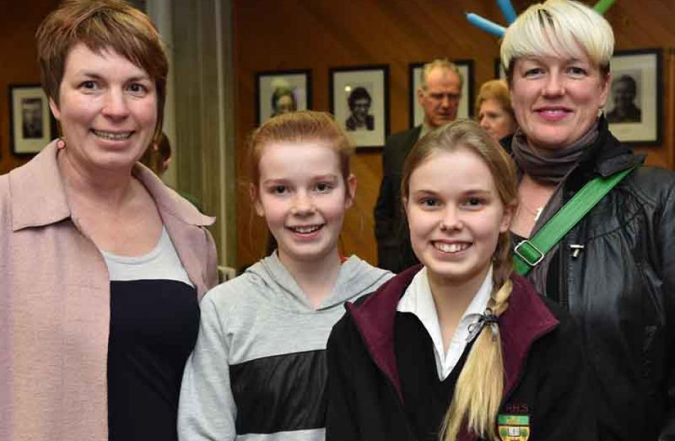 Emma McKinlay, Isla Lynch (11), Beth Lynch (13), and Lara Liesbeth, all of Dunedin.