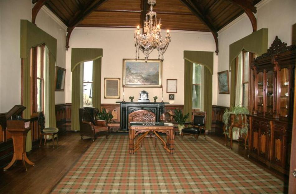 How the music room once looked.