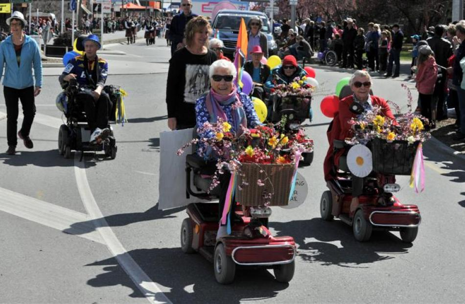Ranui Home and hospital residents helped brighten up the procession. Photo by Craig Baxter