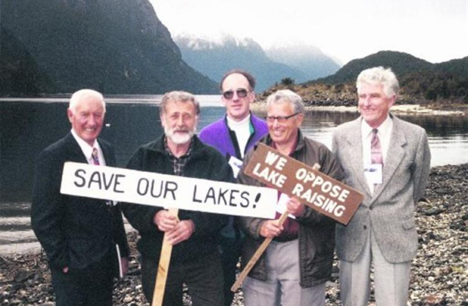 The original Guardians of Lakes Manapouri, Monowai and Te Anau, appointed by then prime minister...