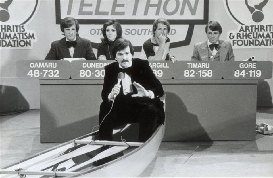 Fronting the Otago Southland  studio component of the 1978 Telethon.