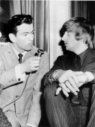 Interviewing Beatles member Ringo Starr in the City Hotel, Dunedin, 1964.