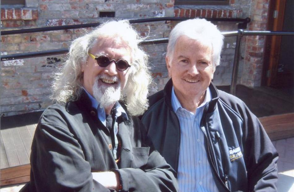 With Billy Connolly in 2009, after spotting him in a Dunedin street.