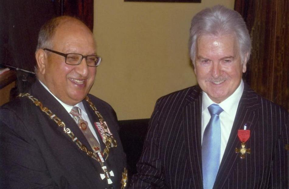 With Governor-General Sir Anand Satyanand, after being made an Officer of the New Zealand Order...