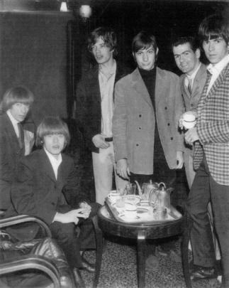 With members of the Rolling Stones in the City Hotel in 1965.