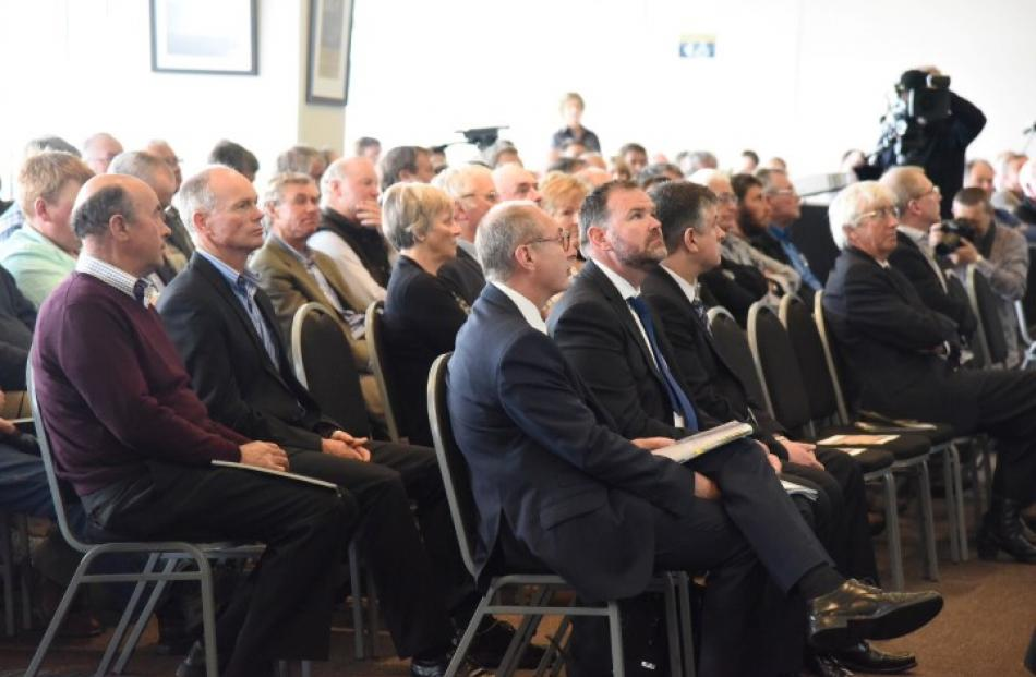 More than 160 Silver Fern Farms suppliers and shareholders attended the meeting.