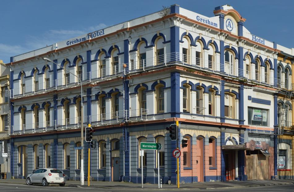 The Gresham Hotel building on the corner of Rattray and Cumberland streets. Photo: ODT files