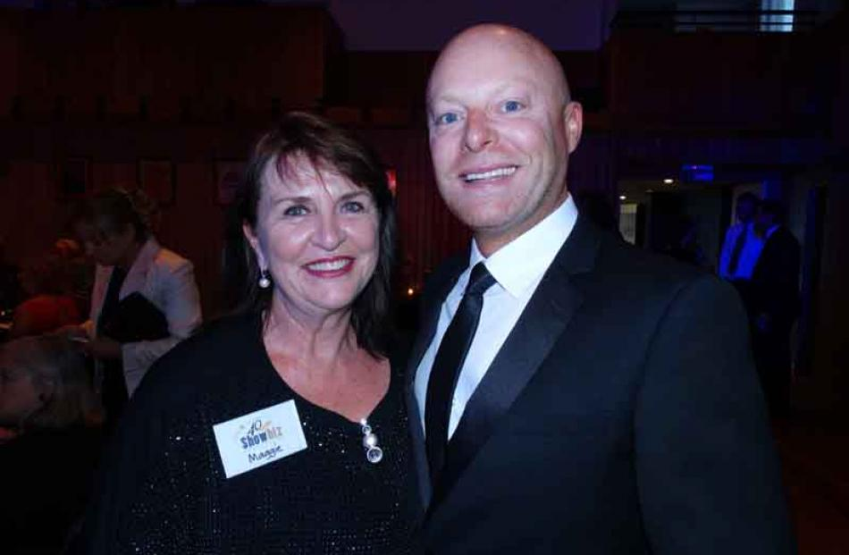 Showbiz Queenstown committee member Maggie Ennis with president Steve Wilde, both of Queenstown.