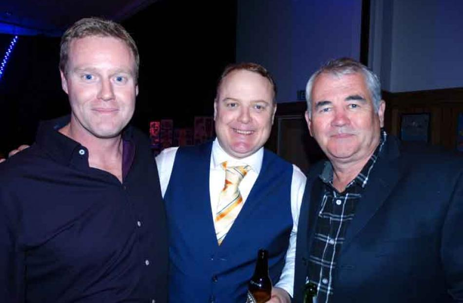 Simon Green of Queenstown, Marty McLay of Brisbane, and Mike Legge of Queenstown.