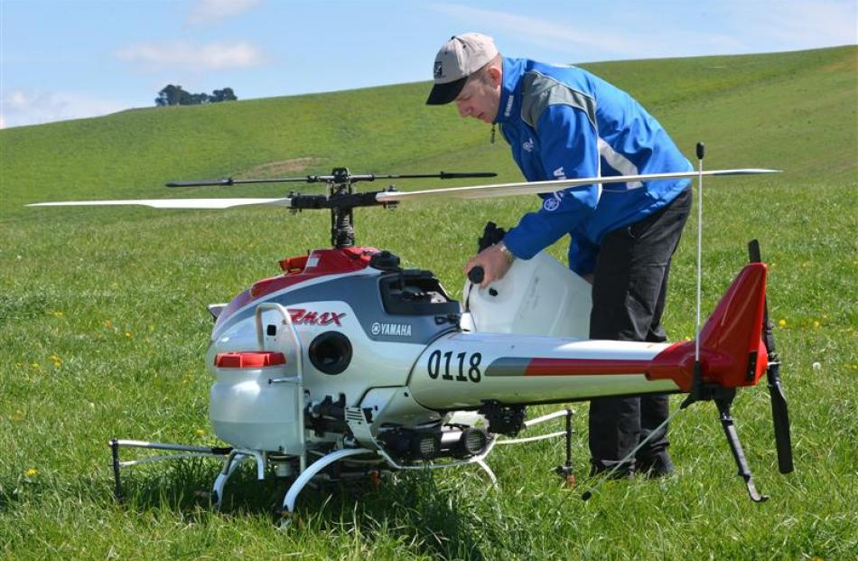Drone spray helicopter flies by wire | Otago Daily Times