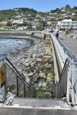 Rocks at St Clair Beach have resulted in two incidents where people needed to be rescued. PHOTO:...
