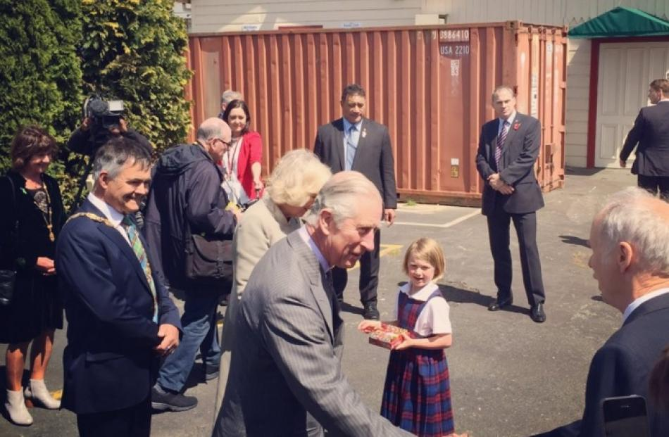 The Royals made an unscheduled stop at Mosgiel Railway Station before boarding a train bound for...