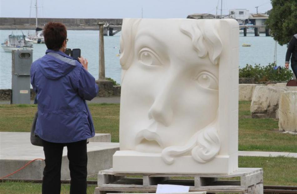 Visitors to Friendly Bay during the  symposium have been fascinated by Christchurch sculptor Paul...