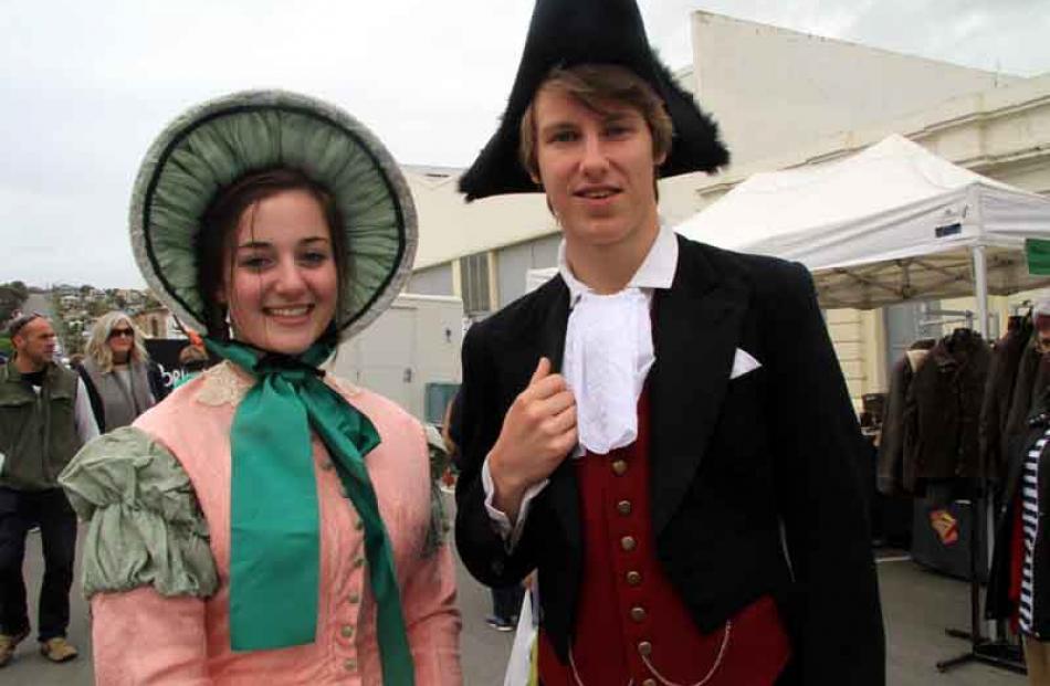 Sophie Manning-Hilton (16) and Louis Grace (17), both of Dunedin.
