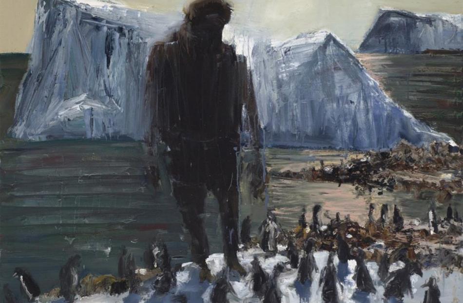 Euan Macleod Man and Penguins, 2010.