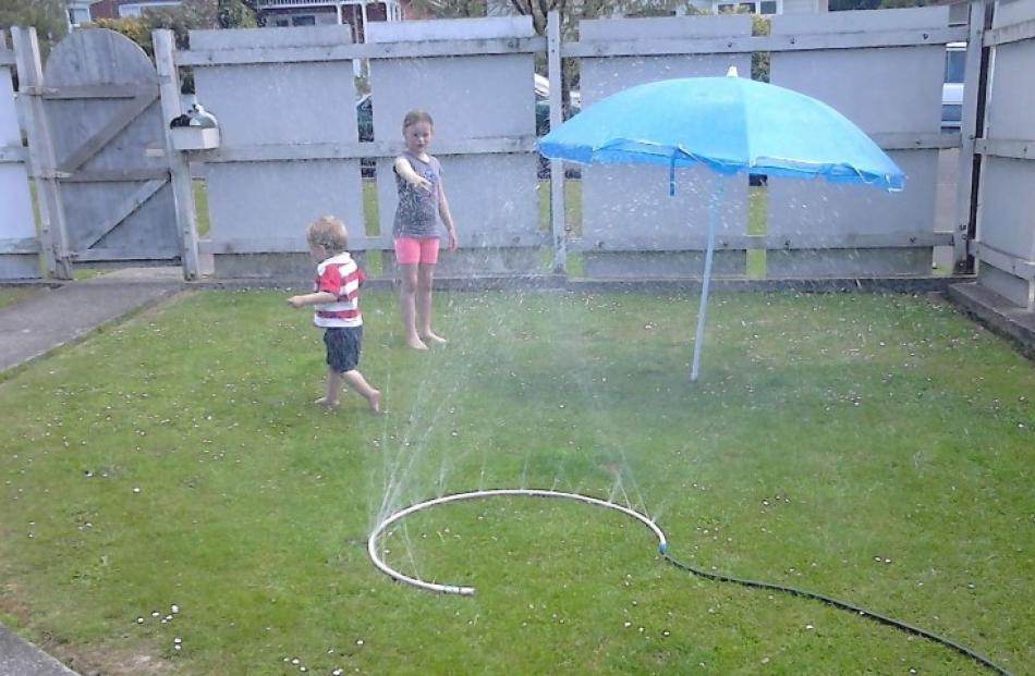 DIY sprinkler day. Photo Kerry-Lee Charlton