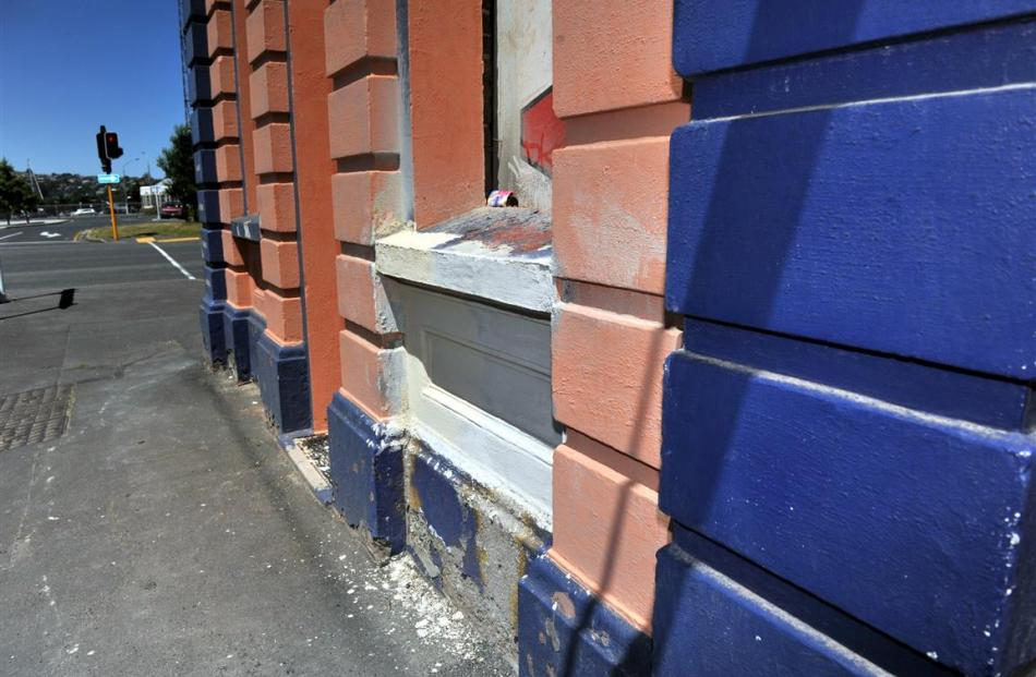 The building's original concrete render will soon be on display when the current exterior is...