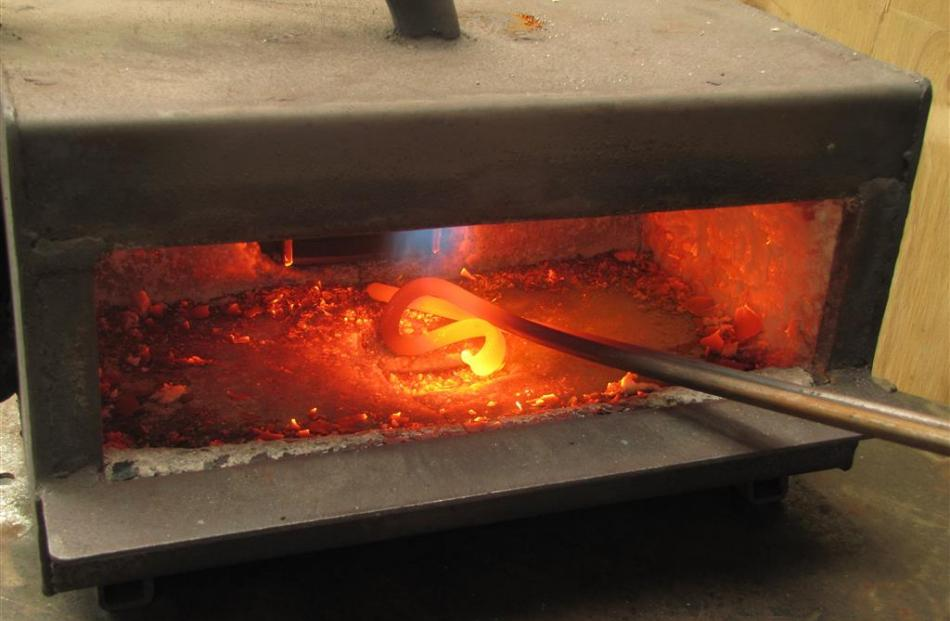 A small forge allows steel to be twisted into any shape. Photo by Jono Edwards.