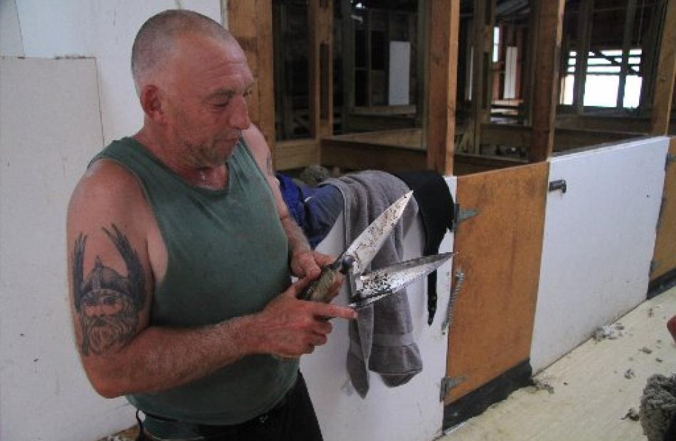 Steve Bool (50) has been working in shearing sheds since he was 13 years old. ''It is an art. And...