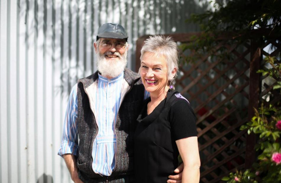Rod and Sue McLean work from their backyard shed.