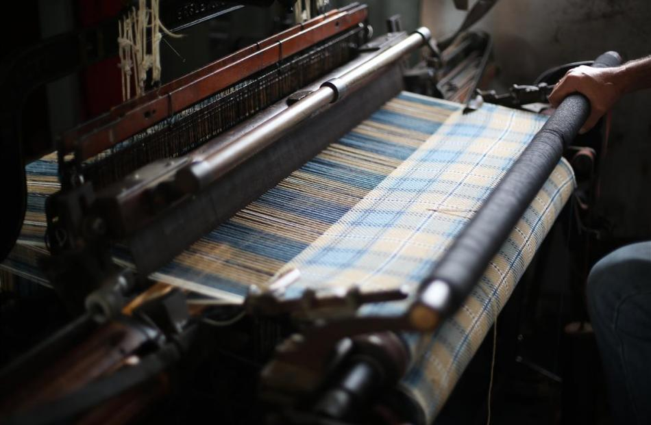 A family tartan willbe made into scarves.