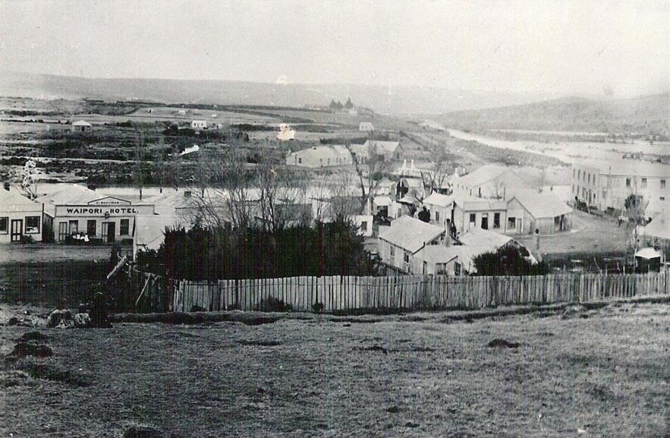 Waipori township in the late 1800s. Photos supplied.