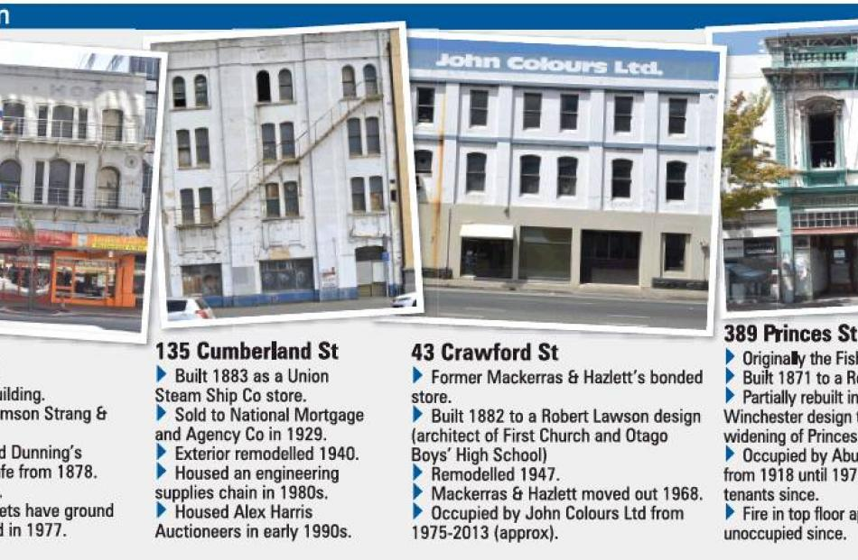 Dunedin buildings set to be restored. Click on ODT Graphic to enlarge.