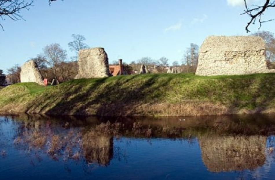 Berkhamsted Castle, the first British historic site protected by statute in 1833. Photo from...