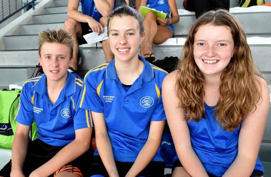Isaak Frewen (13), Molly Woodham (13) and Sophie Adamson (14), all of Queenstown.