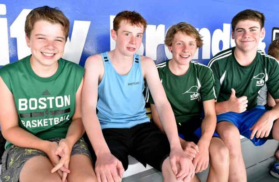 Tom Gold (13), Cameron Jefferies (13), David Cannon (14) and Cameron Innes (14), all of Dunedin.