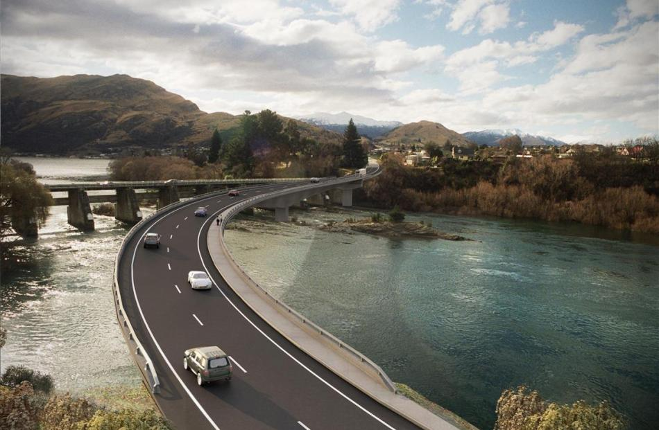 An artist's impression of the planned Kawarau Falls Bridge. Image supplied.
