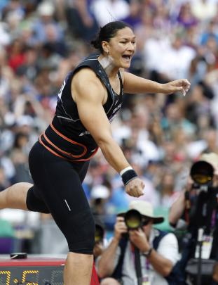 Shot put gold medallist Valerie Adams in action during the 2012 London Olympics. New Zealand...