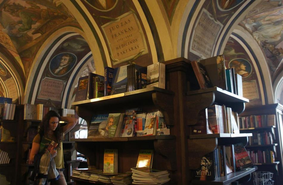 The frescoes in Vilnius University's Littera bookshop mark the achievements of some of the most...