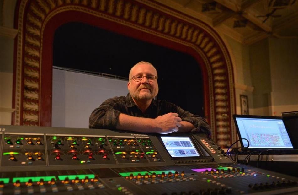 Live sound engineer Iain Sweetman at Sammy's. Photo by Gerard O'Brien.