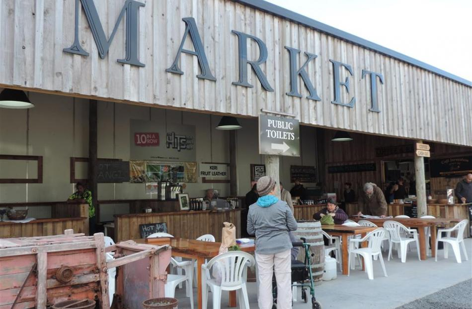 An old packhouse converted into a  purpose-built market at Kerikeri.