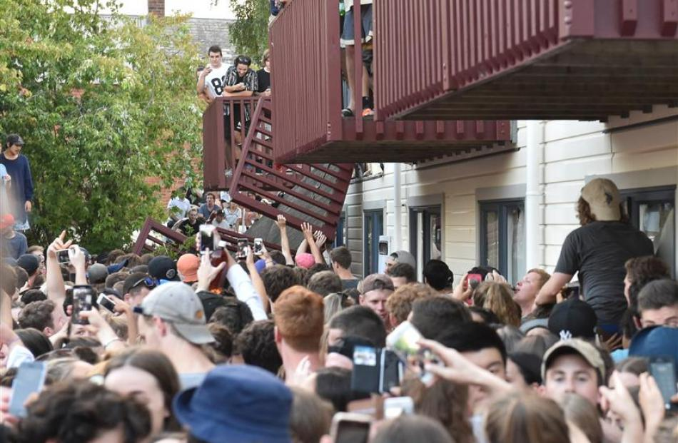 Up to 1500 people were at the concert and many students rushed to help. Photo: Gregor Richardson