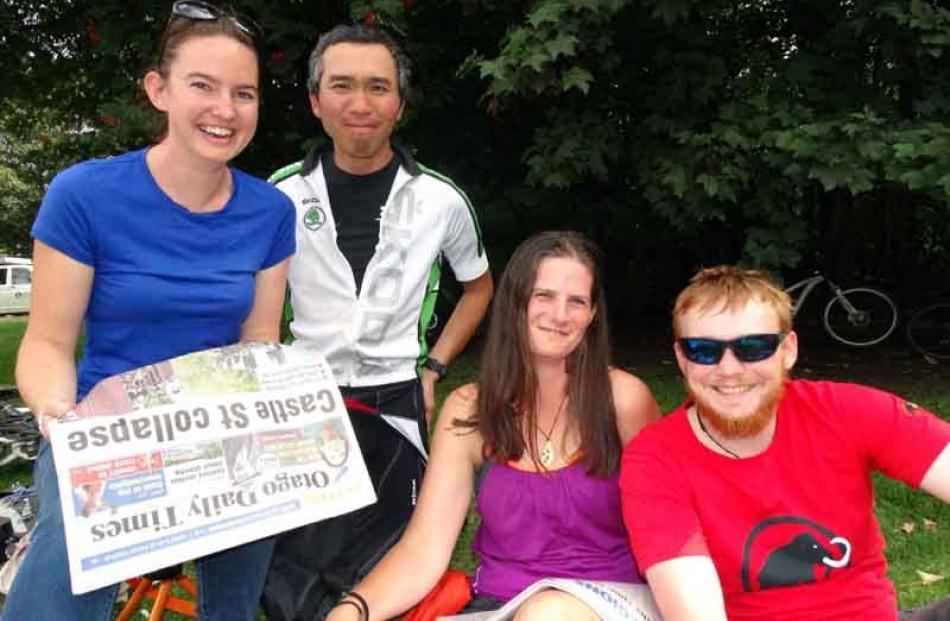 Karen Retter, Sadao Tsuchiya and Hilary Cameron, all of Queenstown, and Benjamin Hyde, of Westport.