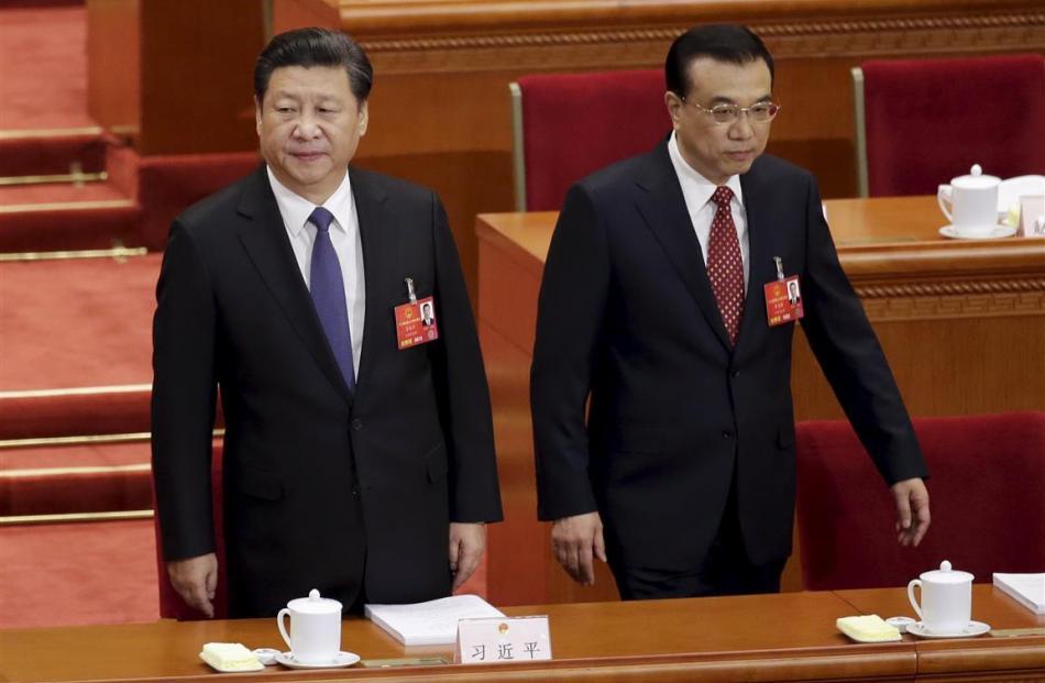 President Xi Jinping (left) and Li Keqiang.